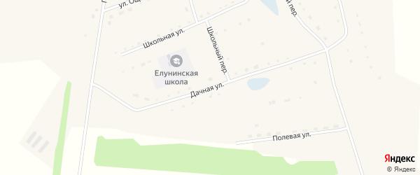 Дачная улица на карте села Елунино с номерами домов