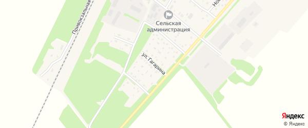 Улица Гагарина на карте поселка Победима с номерами домов