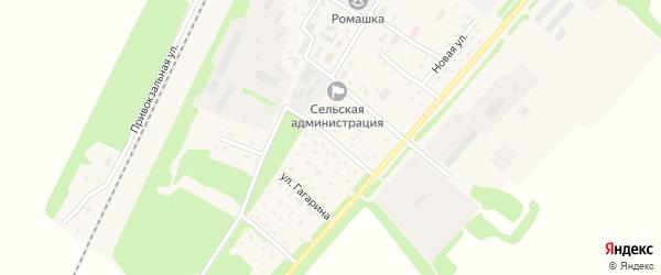 Цветочная улица на карте поселка Победима с номерами домов