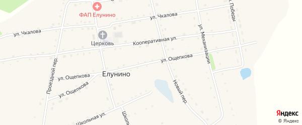 Улица Ощепкова на карте села Елунино с номерами домов