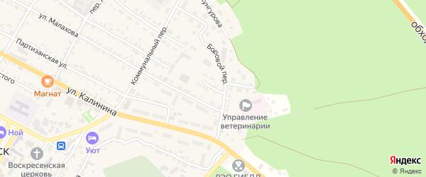 Восточный переулок на карте села Павловска с номерами домов