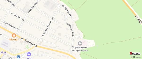 Боровой переулок на карте села Павловска с номерами домов
