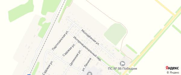 Молодежная улица на карте поселка Победима с номерами домов