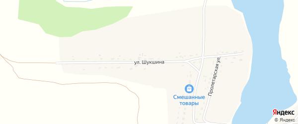 Улица Шукшина на карте села Фунтики с номерами домов