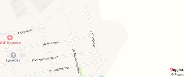 Улица Победы на карте села Елунино с номерами домов