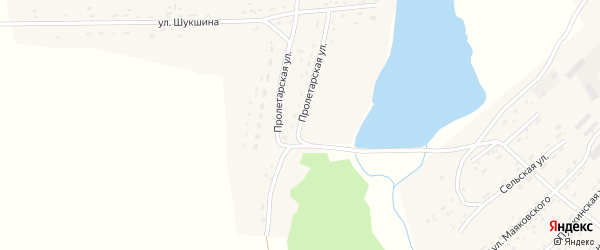 Пролетарская улица на карте села Фунтики с номерами домов