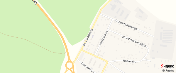 Улица Гагарина на карте поселка Сибирские Огни с номерами домов