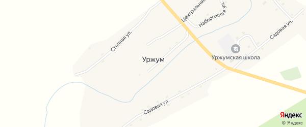 Центральная улица на карте села Уржума с номерами домов