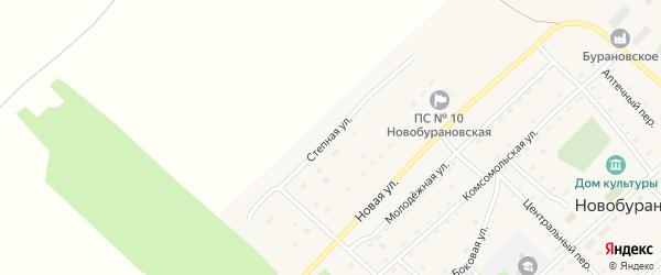 Степная улица на карте села Новобураново с номерами домов