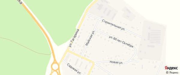 Майская улица на карте поселка Сибирские Огни с номерами домов