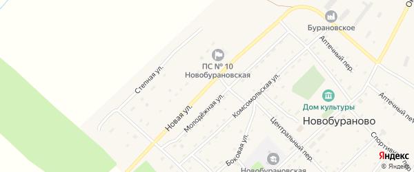 Новая улица на карте села Новобураново с номерами домов