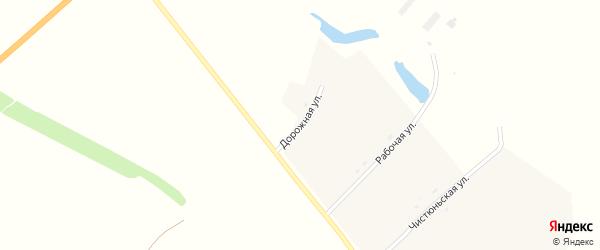 Дорожная улица на карте села Колпаково с номерами домов