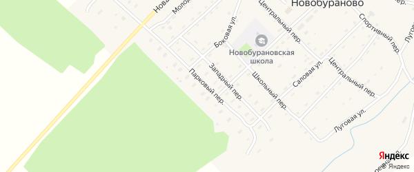 Парковый переулок на карте села Новобураново с номерами домов