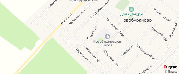 Боковая улица на карте села Новобураново с номерами домов
