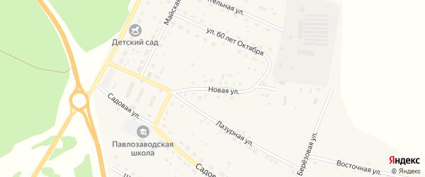 Новая улица на карте поселка Сибирские Огни с номерами домов