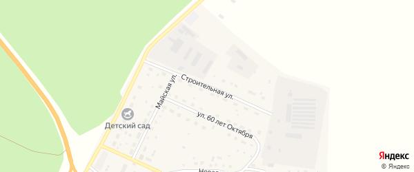 Строительная улица на карте поселка Сибирские Огни с номерами домов