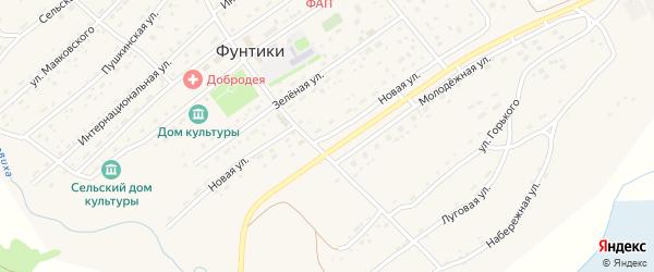 Новая улица на карте села Фунтики с номерами домов