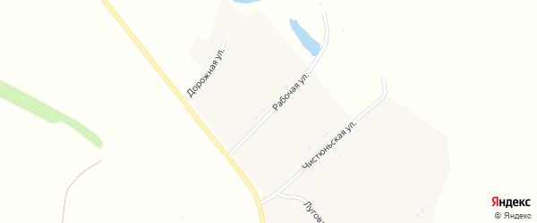Рабочая улица на карте села Колпаково с номерами домов