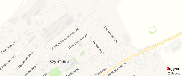 Полевая улица на карте села Фунтики с номерами домов