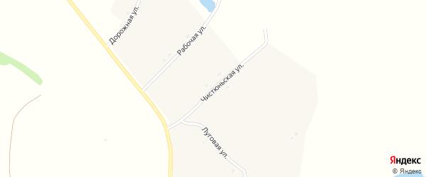 Чистюньская улица на карте села Колпаково с номерами домов