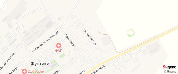 Солнечная улица на карте села Фунтики с номерами домов