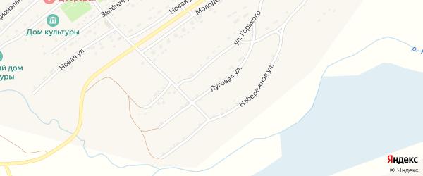 Луговая улица на карте села Фунтики с номерами домов