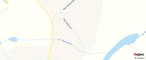 Луговая улица на карте села Колпаково с номерами домов
