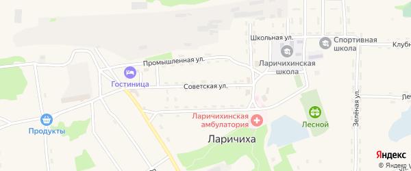 Советская улица на карте села Ларичихи с номерами домов