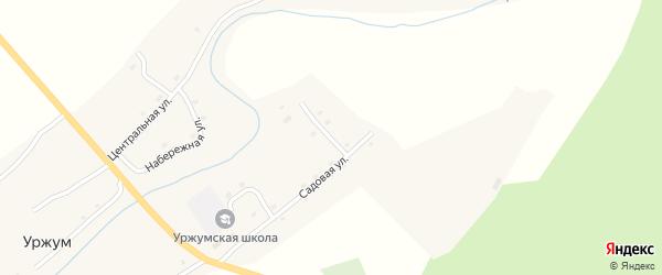 Рабочий переулок на карте села Уржума с номерами домов