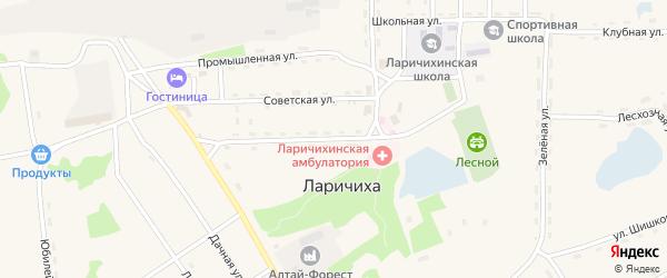Садовая улица на карте села Ларичихи с номерами домов