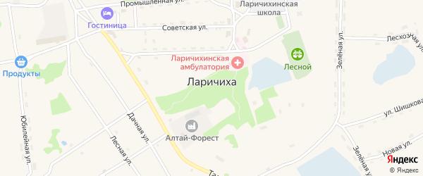 Юбилейная улица на карте села Ларичихи с номерами домов