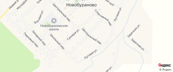 Первомайская улица на карте села Новобураново с номерами домов