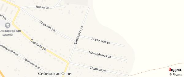 Восточная улица на карте поселка Сибирские Огни с номерами домов
