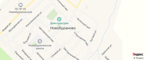 Спортивный переулок на карте села Новобураново с номерами домов