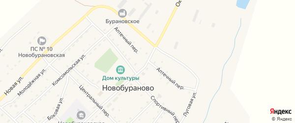 Октябрьская улица на карте села Новобураново с номерами домов