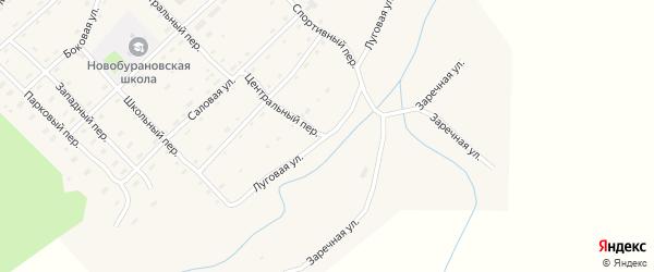 Луговая улица на карте села Новобураново с номерами домов