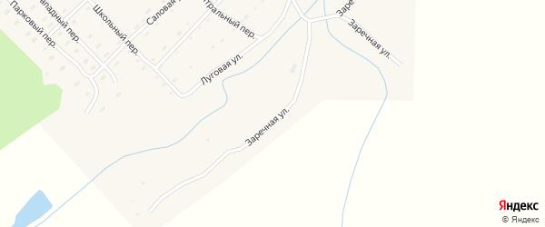 Заречная улица на карте села Новобураново с номерами домов
