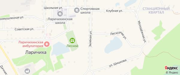 Зеленая улица на карте села Ларичихи с номерами домов