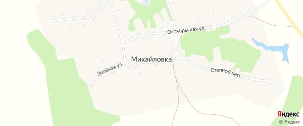 Рощинский переулок на карте села Михайловки с номерами домов