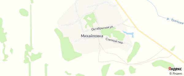 Карта села Михайловки в Алтайском крае с улицами и номерами домов