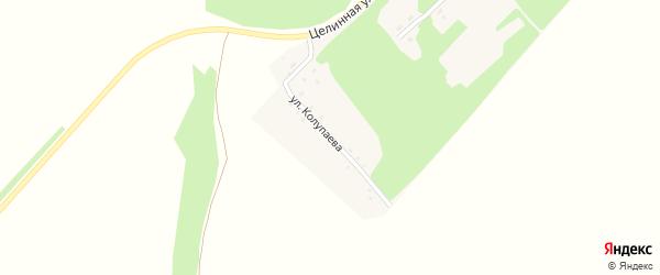 Улица Колупаева на карте поселка Дружбы с номерами домов