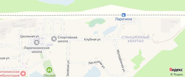 Клубная улица на карте села Ларичихи с номерами домов