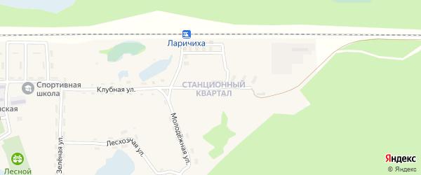Вокзальная улица на карте села Ларичихи с номерами домов