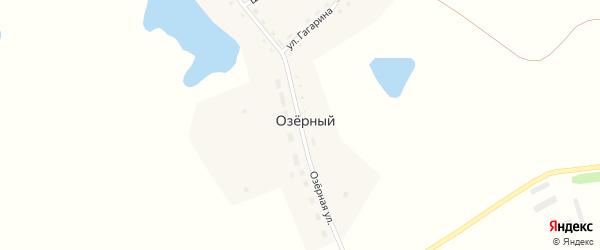 Озёрная улица на карте Озерного поселка с номерами домов