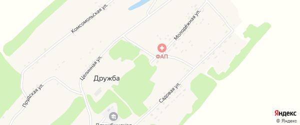Молодежная улица на карте поселка Дружбы с номерами домов