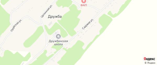 Садовая улица на карте поселка Дружбы с номерами домов