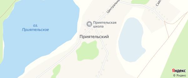 Озерная улица на карте Приятельского поселка с номерами домов