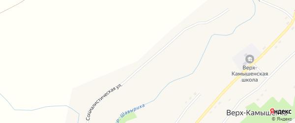 Социалистическая улица на карте села Верха-Камышенки с номерами домов