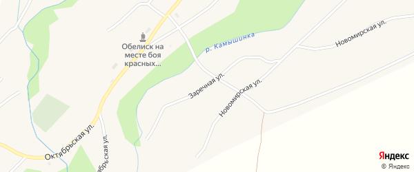 Заречная улица на карте села Верха-Камышенки с номерами домов