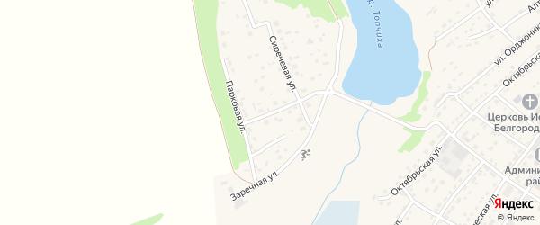 Кленовая улица на карте села Топчихи с номерами домов